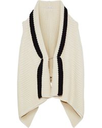 Ann Demeulemeester - Draped Two-tone Alpaca-blend Cardigan - Lyst