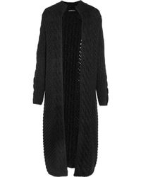 James Perse - Cable-knit Wool-blend Cardigan - Lyst