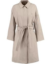 Vince - Belted Cotton-blend Gabardine Trench Coat - Lyst