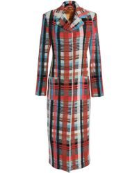 Missoni - Checked Knitted Coat - Lyst