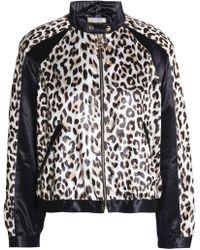 Nina Ricci - Panelled Leopard-print Satin Jacket Animal Print - Lyst
