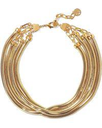Ben-Amun - Woman 24-karat Gold-plated Necklace Gold - Lyst
