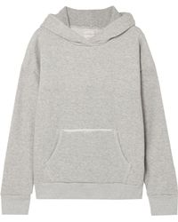 Simon Miller - French Cotton-terry Hooded Sweatshirt - Lyst