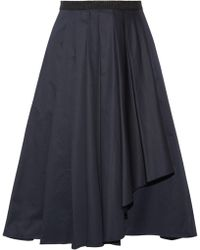 Jason Wu - Woman Knee Length Skirt Midnight Blue - Lyst