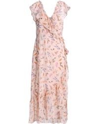 Rebecca Minkoff - Ruffled Floral-print Chiffon Wrap Midi Dress - Lyst