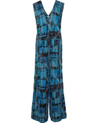M Missoni - Metallic Jacquard-knit Jumpsuit - Lyst