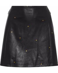 L'Agence - Jolie Metallic Printed Leather Mini Skirt - Lyst