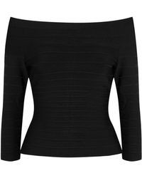 Hervé Léger - Sadie Off-the-shoulder Bandage Top - Lyst