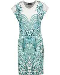 Just Cavalli - Printed Stretch-jersey Mini Dress - Lyst