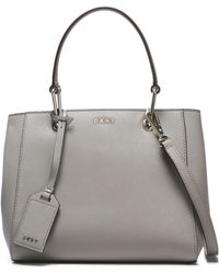 DKNY - Textured-leather Tote - Lyst
