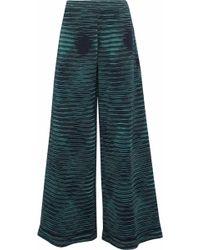 M Missoni | Crochet-knit Wide-leg Pants | Lyst