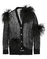 Christopher Kane - Embellished Open-knit Mohair-blend Cardigan - Lyst