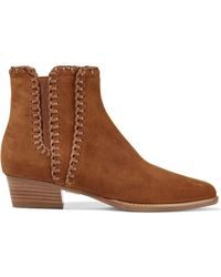 Michael Kors - Presley Suede Ankle Boots Light Brown - Lyst