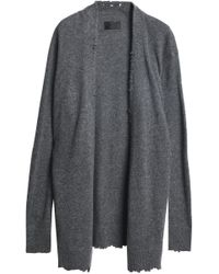 RTA - Distressed Cashmere Cardigan - Lyst