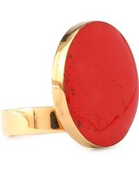 Stella McCartney - Gold-tone Stone Ring - Lyst