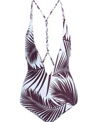 Mikoh Swimwear - Printed Swimsuit - Lyst