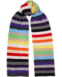 Madeleine Thompson - Woman Kotewall Striped Cashmere Scarf Multicolor - Lyst