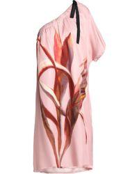 Day Birger et Mikkelsen - One-shoulder Printed Twill Dress - Lyst