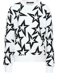 Perfect Moment - Printed French Cotton-terry Sweatshirt White - Lyst