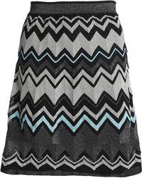 M Missoni - Metallic Intarsia-knit Mini Skirt - Lyst