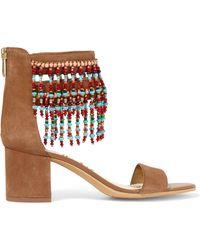 Sam Edelman - Sibel Embellished Suede Sandals - Lyst