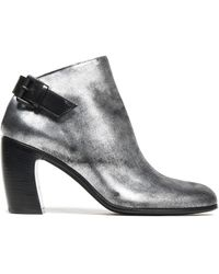 Ann Demeulemeester - Metallic Leather Ankle Boots - Lyst