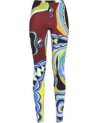 Emilio Pucci - Printed Stretch-jersey leggings - Lyst