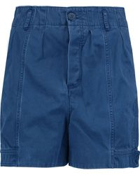 Marc By Marc Jacobs - Pleated Cotton-blend Twill Shorts - Lyst