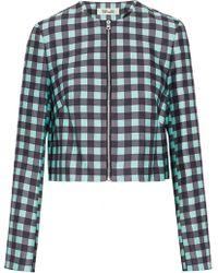 Diane von Furstenberg - Gingham Wool And Silk-blend Jacket - Lyst