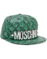 Moschino - Printed Leather Baseball Cap - Lyst
