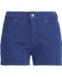 Love Moschino | Appliquéd Denim Shorts Royal Blue | Lyst