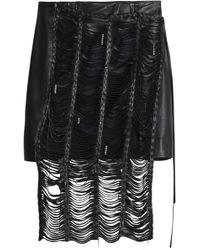 Magda Butrym - Compton Embellished Cutout Leather Mini Skirt - Lyst