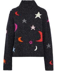 Chinti & Parker - Marled Intarsia Wool-blend Turtleneck Sweater - Lyst