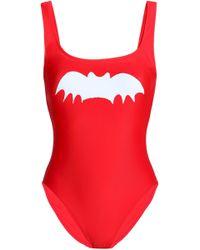 Zoe Karssen - Woman Printed Swimsuit Tomato Red - Lyst