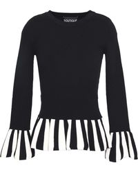 Boutique Moschino - Striped Stretch-knit Top - Lyst
