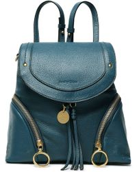 See By Chloé - Textured-leather Backpack - Lyst