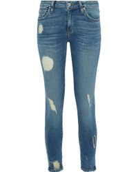 IRO - Jude Distressed Low-rise Skinny Jeans - Lyst