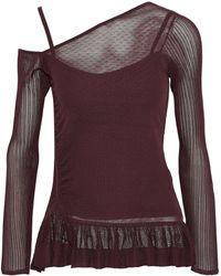 Jason Wu - Cold-shoulder Panelled Stretch-knit Top - Lyst