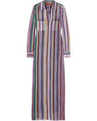 Missoni - Striped Crochet-knit Maxi Dress - Lyst