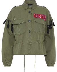 W118 by Walter Baker - Lex Embellished Twill Jacket Army Green - Lyst