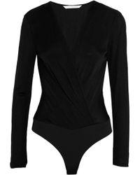 Diane von Furstenberg | Lala Wrap-effect Crepe Bodysuit | Lyst