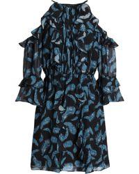 Rachel Zoe - Cold-shoulder Ruffle-trimmed Silk-chiffon Mini Dress - Lyst