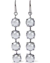 Valentino - Gunmetal-tone Faux Pearl Earrings - Lyst