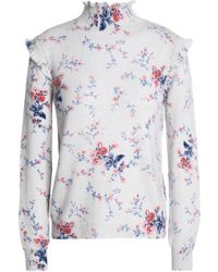 Joie - Robbia Floral-print Wool And Cashmere-blend Turtleneck Jumper - Lyst