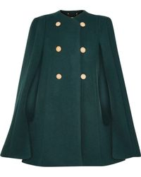 Chloé - Cape-back Double-breasted Wool And Mohair-blend Coat - Lyst