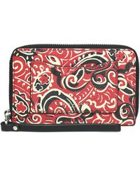 Marc Jacobs - Woman Printed Leather Wallet Red Size -- - Lyst