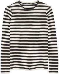 Proenza Schouler - Striped Slub Cotton Top - Lyst