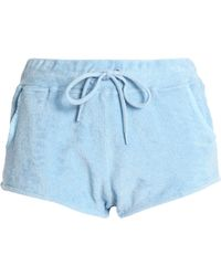 Orlebar Brown - Cotton-terry Shorts Sky Blue - Lyst