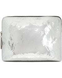 3.1 Phillip Lim - Metallic Cracked-leather Cosmetics Case - Lyst