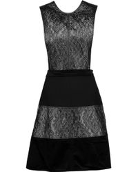 Raoul - Skakira Cutout Panelled Brocade, Velvet And Jersey Mini Dress - Lyst